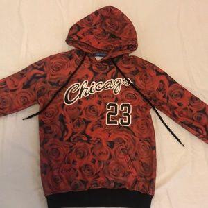 Chaoxin Chicago Bulls Jordan 23 red rose hoodie